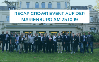 Recap Exklusives growr Event auf der Marienburg